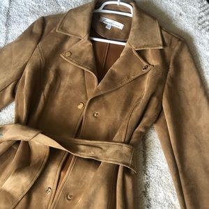 🧥 [Kenneth Cole] Camel Suede Pea Coat 🐫